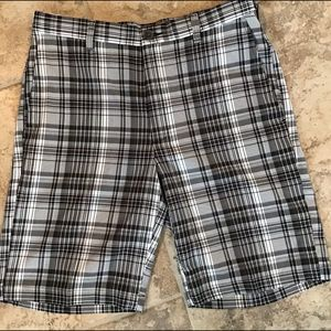 Men's Polyester Plaid Shorts